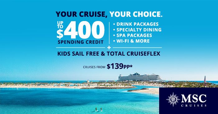 MSC Your Cruise Your Choice 1/4/2021